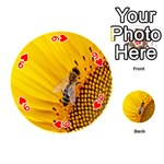 Sun Flower Bees Summer Garden Playing Cards 54 (Round)  Front - Heart9