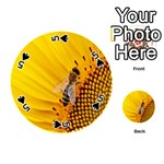 Sun Flower Bees Summer Garden Playing Cards 54 (Round)  Front - Spade5