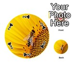 Sun Flower Bees Summer Garden Playing Cards 54 (Round)  Front - Club2