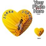 Sun Flower Bees Summer Garden Playing Cards 54 (Heart)  Front - Joker1