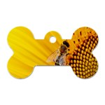 Sun Flower Bees Summer Garden Dog Tag Bone (Two Sides) Front