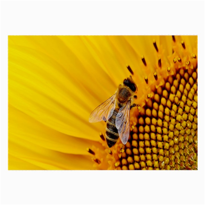 Sun Flower Bees Summer Garden Large Glasses Cloth