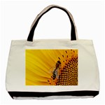 Sun Flower Bees Summer Garden Basic Tote Bag (Two Sides) Back