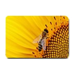 Sun Flower Bees Summer Garden Small Doormat