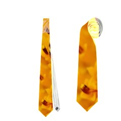 Sun Flower Bees Summer Garden Neckties (One Side)