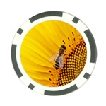Sun Flower Bees Summer Garden Poker Chip Card Guards Front
