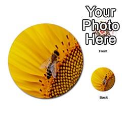 Sun Flower Bees Summer Garden Multi-purpose Cards (Round)