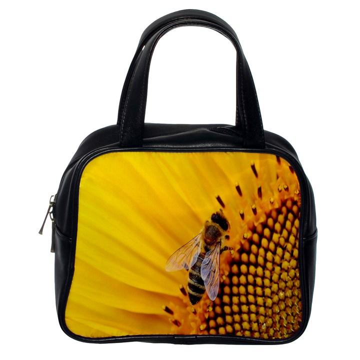 Sun Flower Bees Summer Garden Classic Handbags (One Side)