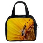 Sun Flower Bees Summer Garden Classic Handbags (2 Sides) Front