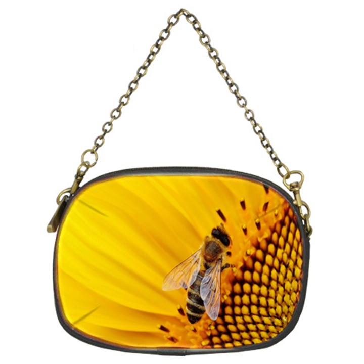 Sun Flower Bees Summer Garden Chain Purses (Two Sides)