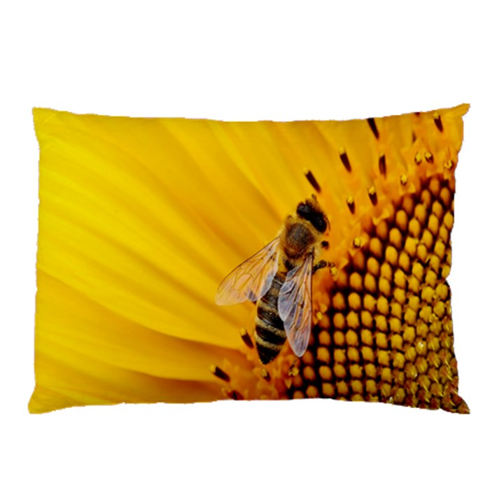 Sun Flower Bees Summer Garden Pillow Case