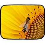 Sun Flower Bees Summer Garden Double Sided Fleece Blanket (Mini)  35 x27 Blanket Back