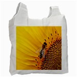Sun Flower Bees Summer Garden Recycle Bag (One Side) Front