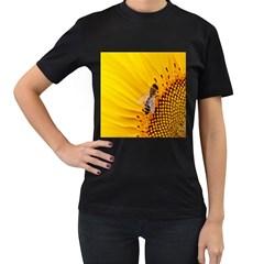 Sun Flower Bees Summer Garden Women s T-Shirt (Black)
