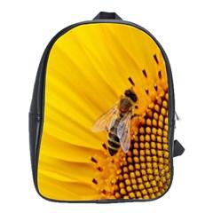 Sun Flower Bees Summer Garden School Bags(Large)