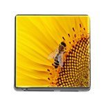 Sun Flower Bees Summer Garden Memory Card Reader (Square) Front