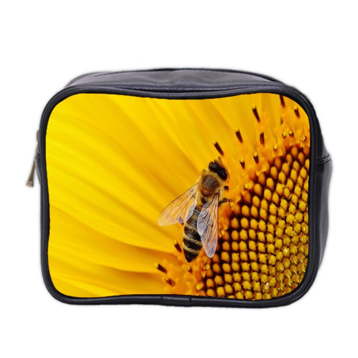 Sun Flower Bees Summer Garden Mini Toiletries Bag 2-Side