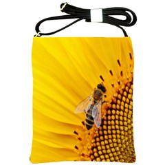 Sun Flower Bees Summer Garden Shoulder Sling Bags