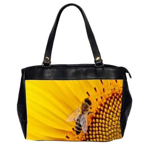 Sun Flower Bees Summer Garden Office Handbags (2 Sides)
