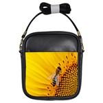 Sun Flower Bees Summer Garden Girls Sling Bags Front