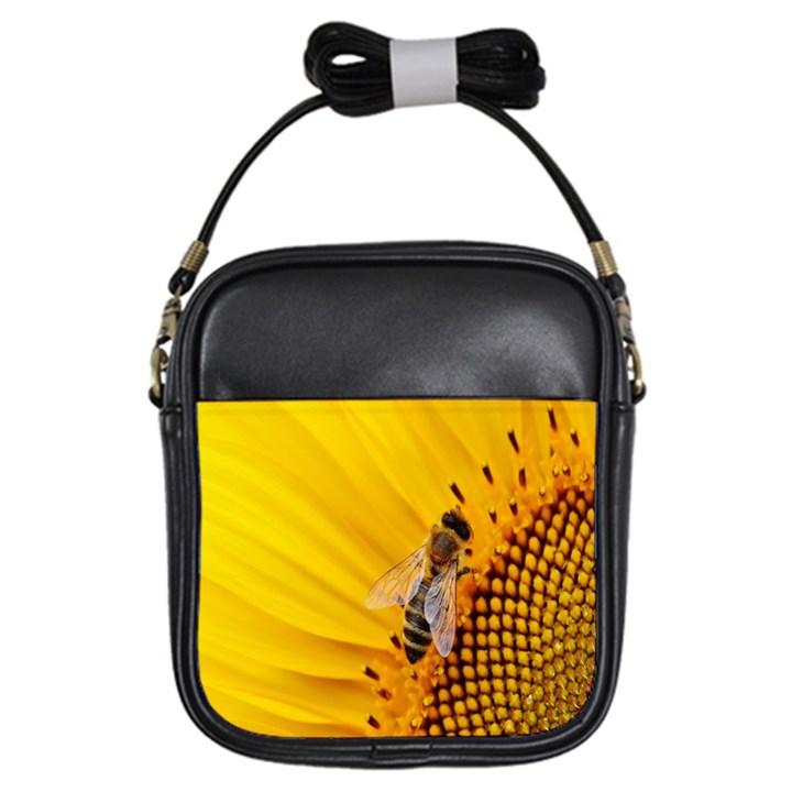 Sun Flower Bees Summer Garden Girls Sling Bags