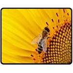 Sun Flower Bees Summer Garden Fleece Blanket (Medium)  60 x50 Blanket Front