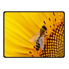 Sun Flower Bees Summer Garden Fleece Blanket (Small)