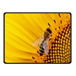 Sun Flower Bees Summer Garden Fleece Blanket (Small) 50 x40 Blanket Front