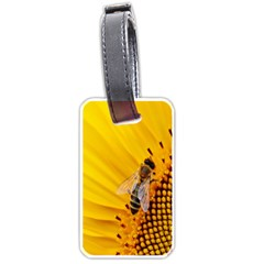 Sun Flower Bees Summer Garden Luggage Tags (One Side)