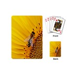 Sun Flower Bees Summer Garden Playing Cards (Mini)  Back