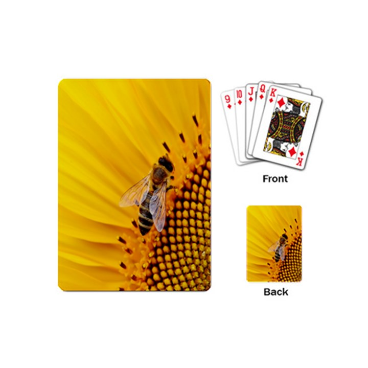 Sun Flower Bees Summer Garden Playing Cards (Mini)