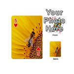 Sun Flower Bees Summer Garden Playing Cards 54 (Mini)  Front - Heart5
