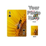 Sun Flower Bees Summer Garden Playing Cards 54 (Mini)  Front - Spade5