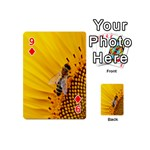 Sun Flower Bees Summer Garden Playing Cards 54 (Mini)  Front - Diamond9