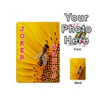 Sun Flower Bees Summer Garden Playing Cards 54 (Mini)  Front - Joker2