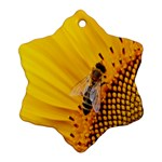 Sun Flower Bees Summer Garden Snowflake Ornament (2-Side) Back