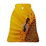 Sun Flower Bees Summer Garden Bell Ornament (2 Sides) Back