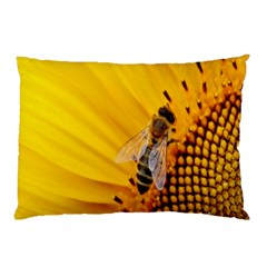 Sun Flower Bees Summer Garden Pillow Case (Two Sides)