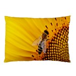 Sun Flower Bees Summer Garden Pillow Case (Two Sides) Back