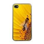 Sun Flower Bees Summer Garden Apple iPhone 4 Case (Clear) Front