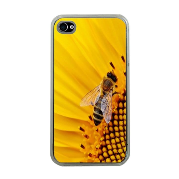 Sun Flower Bees Summer Garden Apple iPhone 4 Case (Clear)