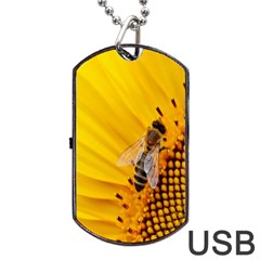 Sun Flower Bees Summer Garden Dog Tag USB Flash (Two Sides)