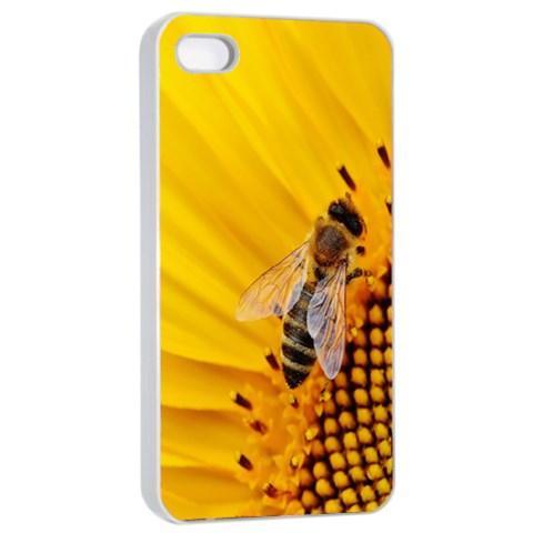 Sun Flower Bees Summer Garden Apple iPhone 4/4s Seamless Case (White)