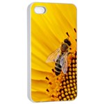 Sun Flower Bees Summer Garden Apple iPhone 4/4s Seamless Case (White) Front