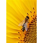 Sun Flower Bees Summer Garden WORK HARD 3D Greeting Card (7x5) Inside