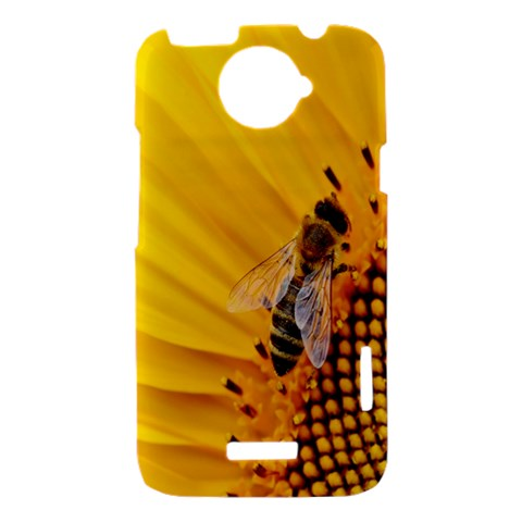 Sun Flower Bees Summer Garden HTC One X Hardshell Case