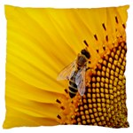 Sun Flower Bees Summer Garden Large Cushion Case (One Side) Front