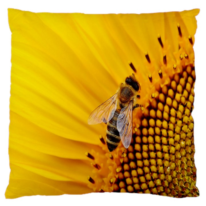 Sun Flower Bees Summer Garden Large Cushion Case (One Side)