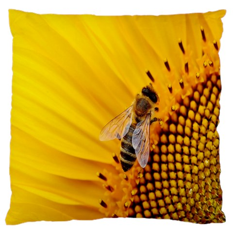 Sun Flower Bees Summer Garden Large Cushion Case (Two Sides)