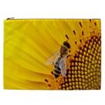 Sun Flower Bees Summer Garden Cosmetic Bag (XXL)  Front